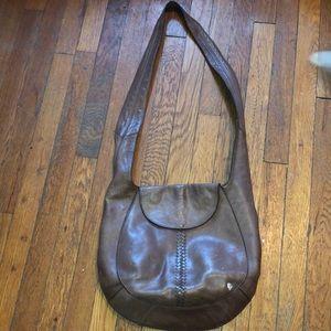 Helen kaminski brown leather purse crossbody nice